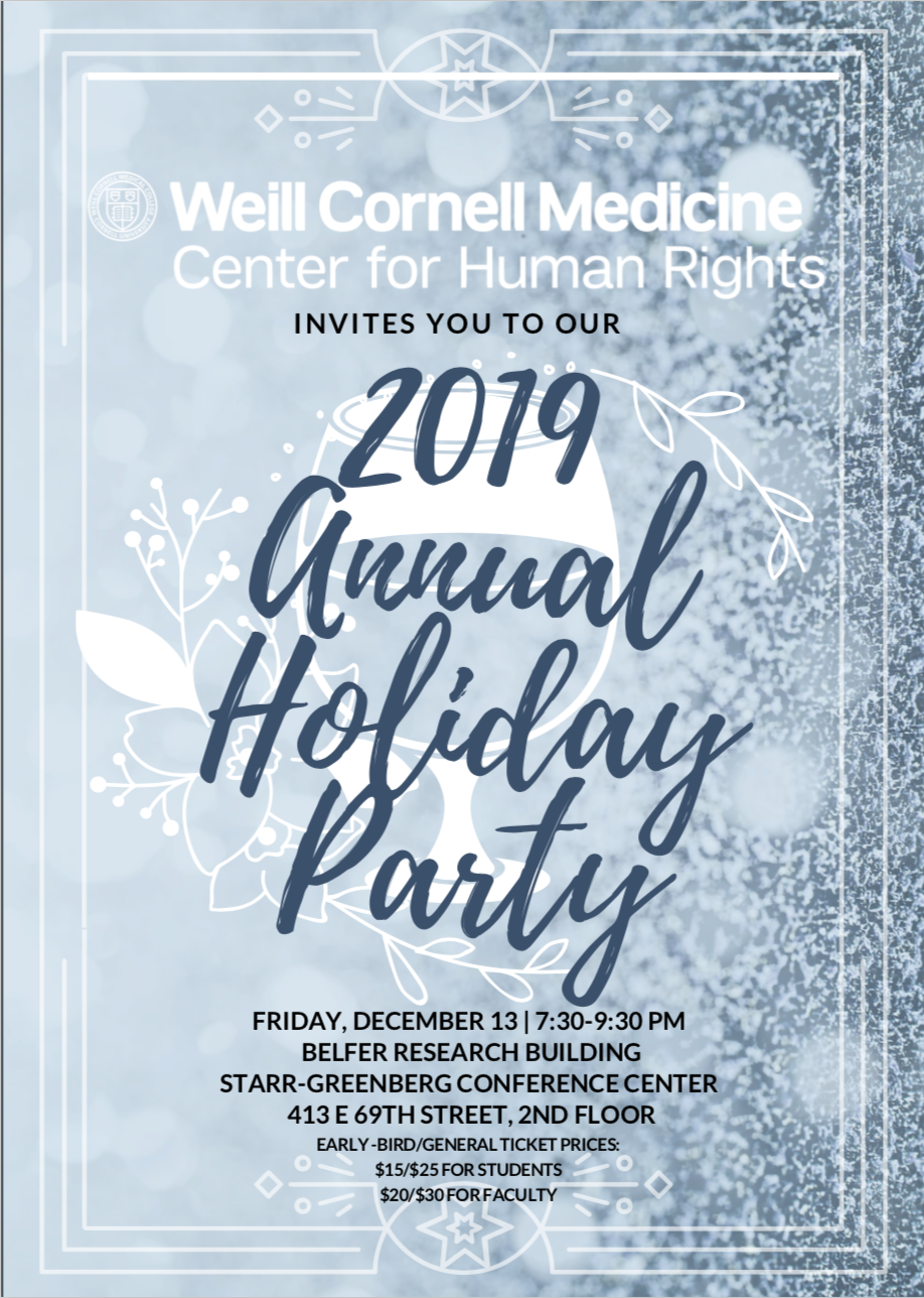 WCCHR 2019 Holiday Party